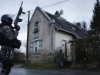 Members of the French GIPN intervention police forces secure a neighbourhood in Corcy, northeast of Paris January 8, 2015. French anti-terrorism police converged on an area northeast of Paris on Thursday after two brothers suspected of being behind an attack on the satirical newspaper Charlie Hebdo were spotted at a petrol station in Villers-Cotterets in the region. France's prime minister said on Thursday he feared the Islamist militants who killed 12 people could strike again as a manhunt for two men widened across the country.   REUTERS/Christian Hartmann   (FRANCE - Tags: CRIME LAW MILITARY TPX IMAGES OF THE DAY) - RTR4KM1B