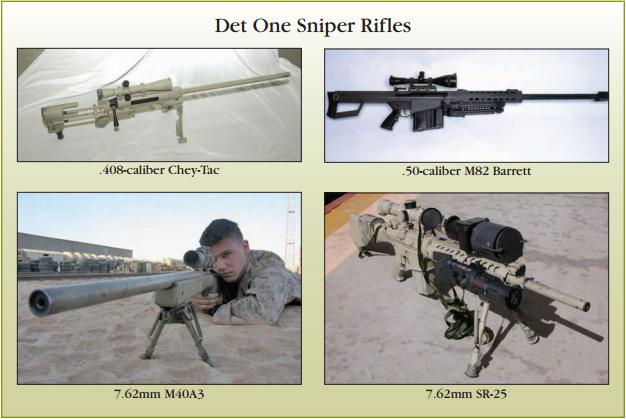 I fucili di precisione impiegati dal DET.1