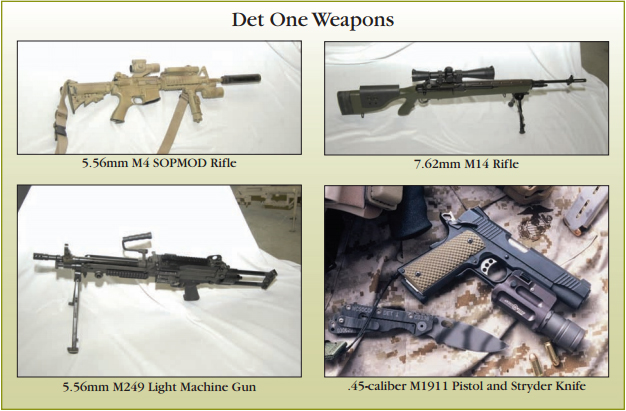 Armi impiegate dal DET.1