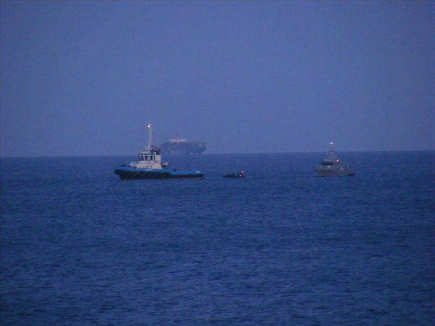 12th June 2011: the Rapid Deployment Platoon boards a vessel coming from Libya.