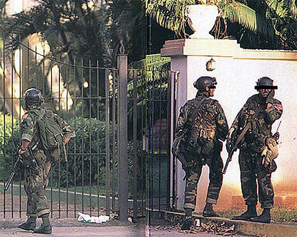 Membri del 1sst S.F.O.D.-Delta nel corso dell'intervento american a Panama.