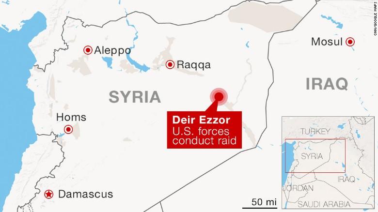 Il raid che ha portato all'eliminazione id Abu Syyaff e' stato condotto nella Siria orientale.