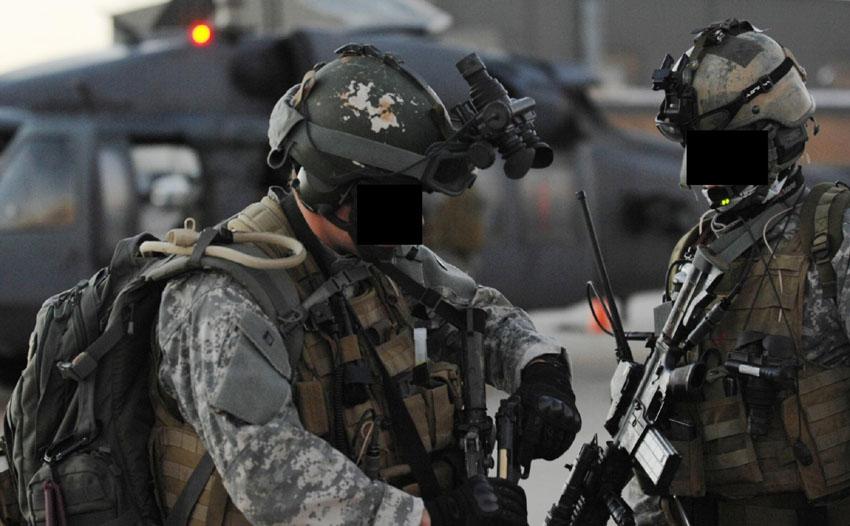 Questa foto ritrae probabilmente operatori della Delta Force in Iraq.