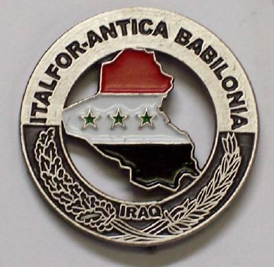 """Distintivo della missione """"Antica Babilonia""""."""