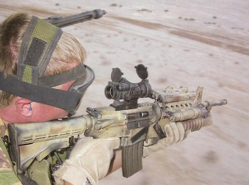 Membro del Gruppo Operativo Incursori in Iraq.