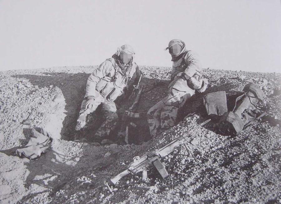 Operatori armati di mitragliatrice di squadra Minimi