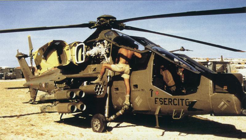 Un elicottero Mangusta.