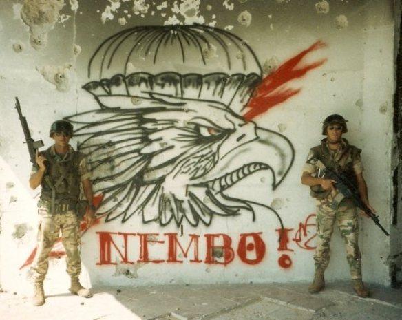 """Murales del 183° """"Nembo"""" della Brigata Folgore."""